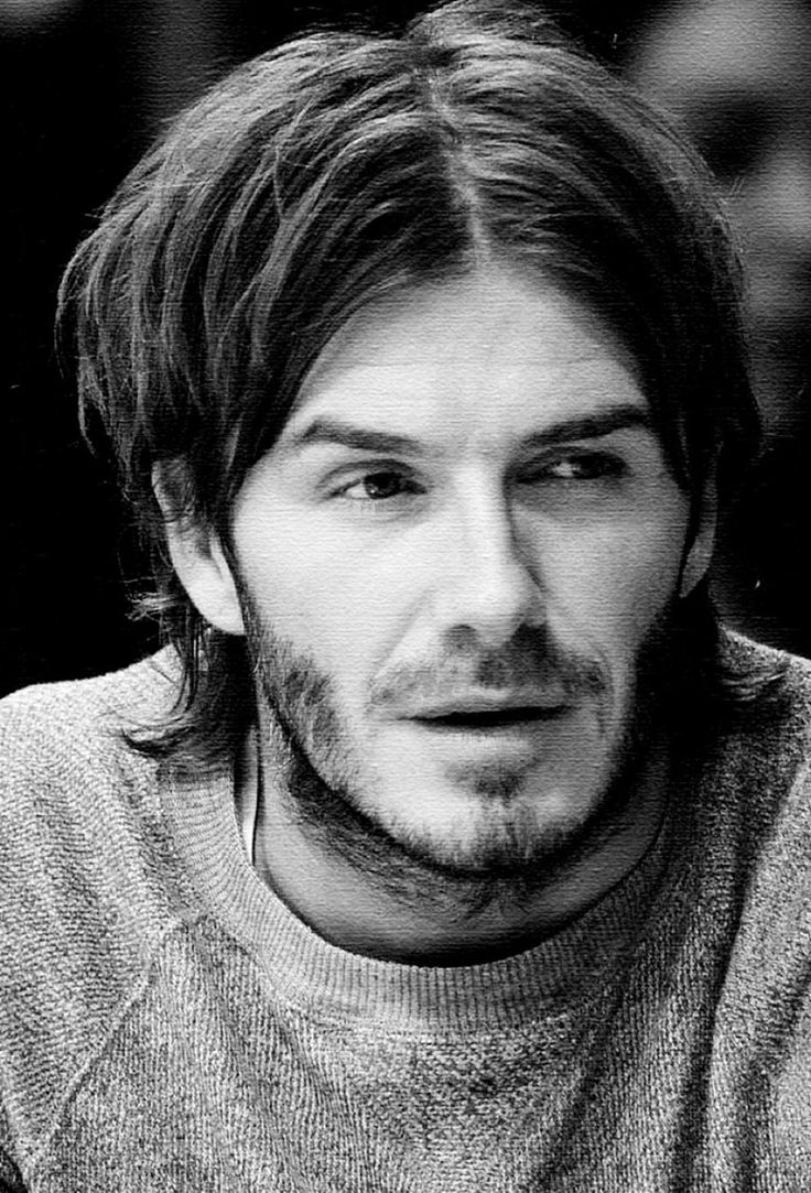 David Beckham...OMG remember the long hair?? :D
