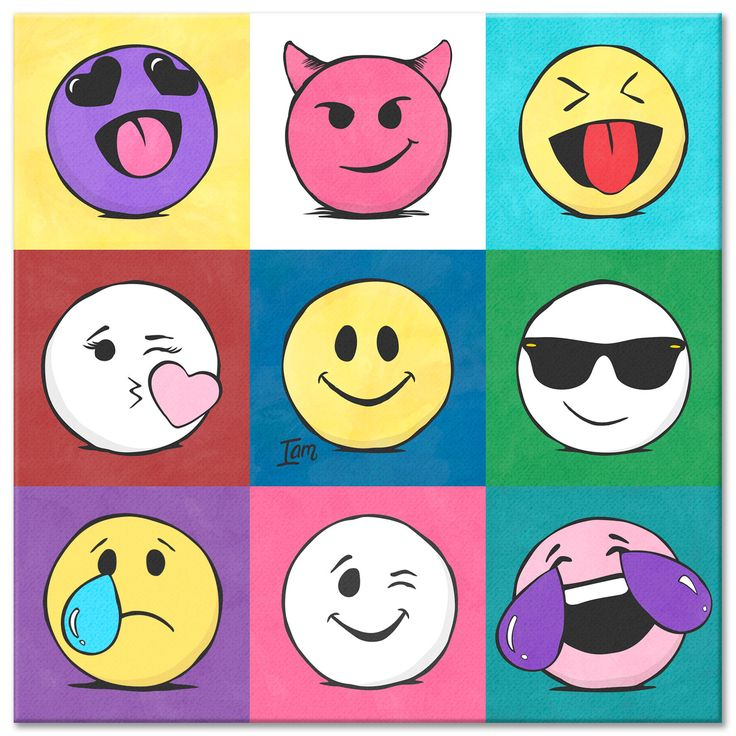 The Emoji Bunch Canvas, A Portion of our proceeds go to help mental health organizations.