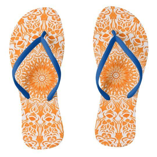 #Tribal #Mandala #Orange #Flip #Flop| #Zazzle https://www.zazzle.com/tribal_mandala_orange_flip_flops-256146635158699266