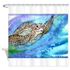 Sea Turtle, Wildlife art! Shower Curtain for