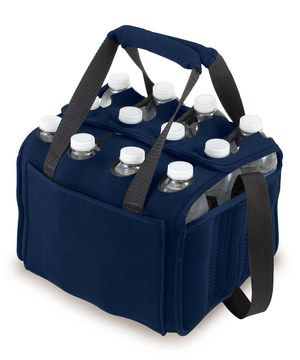 This ingenious tote holds 12 bottles or cans, so every sip is a cool one. Insulated individual compartments regulate temperature, and beverages get a cool boost with two interior chambers for gel or ice packs. Grab the handles or sling it over a shoulder to get the celebration started—no invitation required.