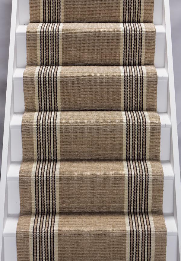 heavy duty striped stair runner