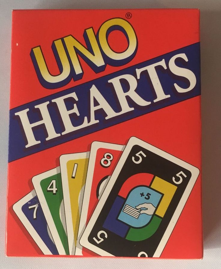 UNO Hearts Card Game New Sealed Mattel 1995 #Mattel