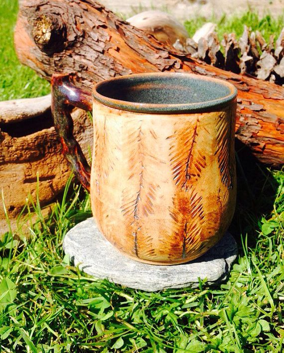 Redwood Forest Inspired Mug Series with Latin by CBeCeramics