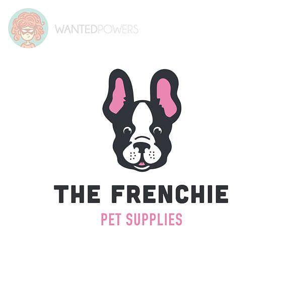 Smiling French Bulldog Logo Custom Pre Made Logo Design Etsy Animal Logo Logo Design Small Business Logo