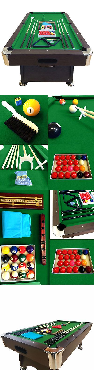 Tables 21213: 7 Feet Billiard Pool Table Snooker Full Set Accessories Game Mod. Green Season -> BUY IT NOW ONLY: $949.05 on eBay!