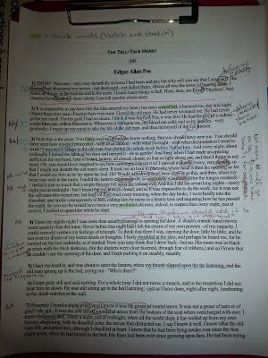 """My Life as a Middle School English Teacher: Close Reading Strategies with """"The Tell-Tale Heart"""" (Planning)"""