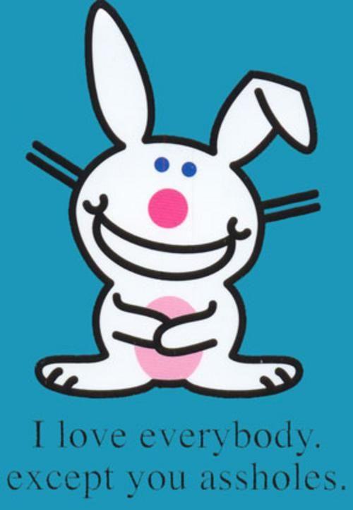 Happy Bunny makes me giggle.