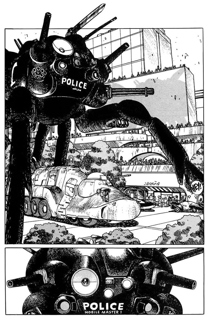 "Future police from ""Appleseed"" by Masamune Shirow"