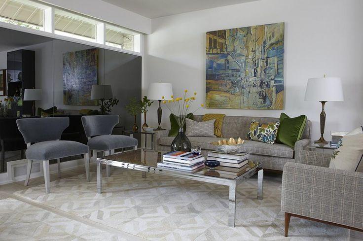sarah richardson sarah 101 living room neutral chrome coffee table