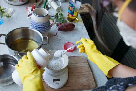 """Homemade Soap """"cold method""""    Sapone fatto in casa"""" metodo a freddo"""""""
