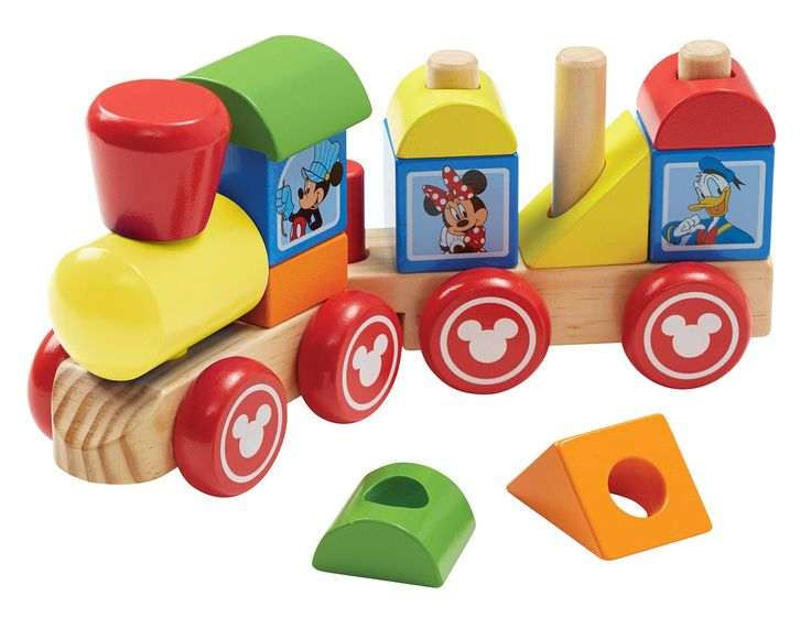 Amazon.com: Disney Baby Mickey Mouse and Friends Wooden Stacking Train