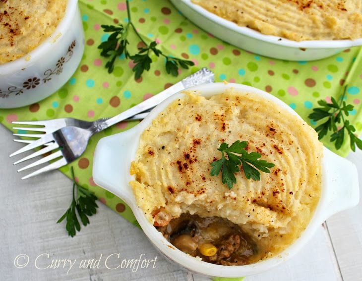 Chicken Cottage Pie with Cauliflower Topping (Throwback Thursday)