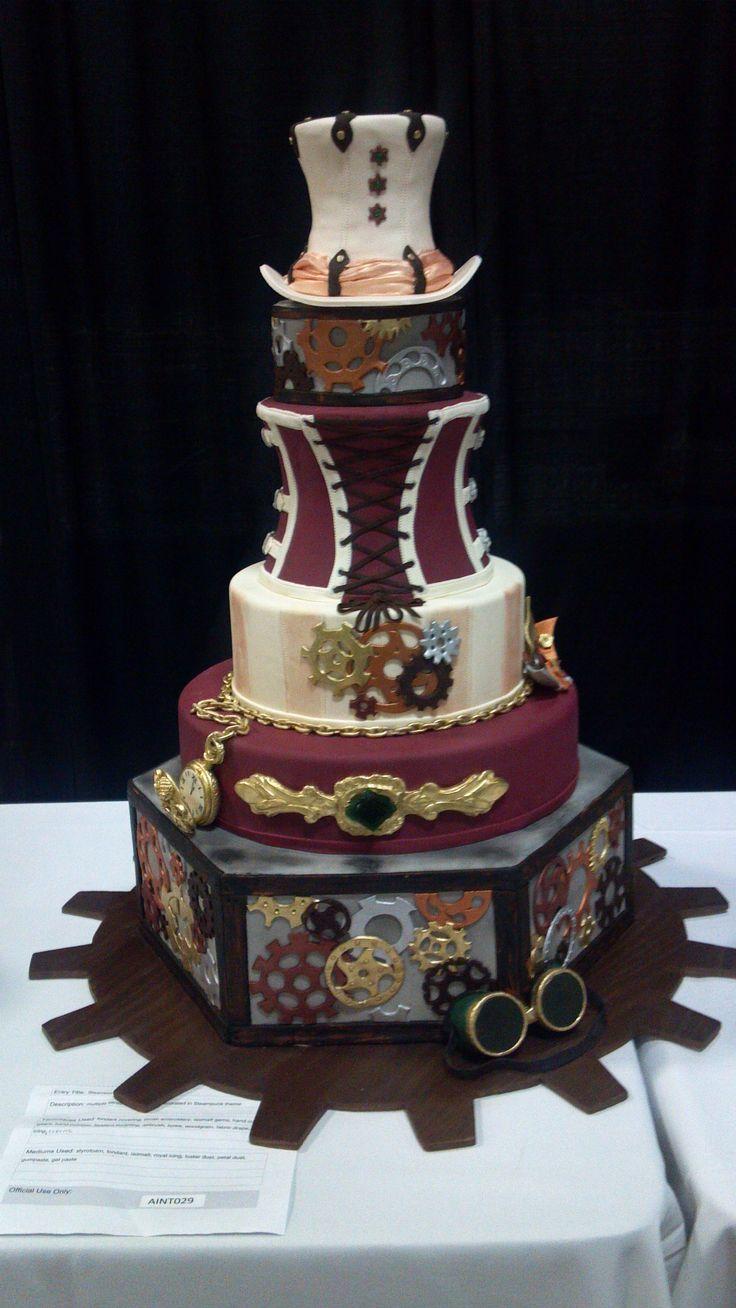 Steampunk Wedding Cake Austin TX