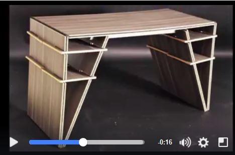 Premio al Diseño de Muebles. Diseñado por Valeria Montero, Alejandra Perea y Marcela Olivares, de la Licenciatura en Diseño industrial de la Ibero