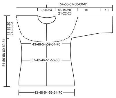 """Sweter DROPS z rękawami ¾, wzorem fal i zaokrąglonym karczkiem, z włóczki """"Verdi"""". Od S do XXXL ~ DROPS Design"""