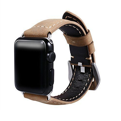 Watch Band For Apple 38mm Genuine Leather Metal Clasp iWatch Strap Series1 2 New #WatchBand38mm