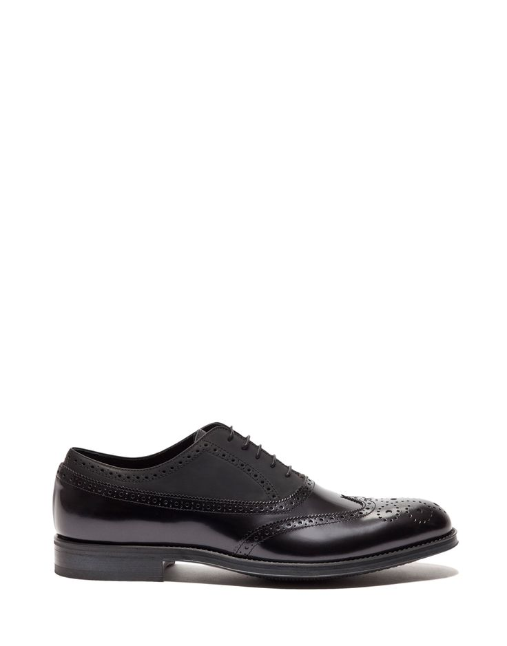 VEGA LACE-UP IN RUBBERIZED AND BUFFED ABRASIVATO LEATHER WITH ENGLISH-STYLE PERFORATIONS - Shoes Man - Alberto Guardiani