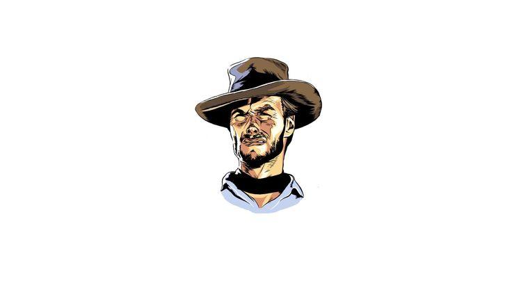 Download Wallpaper 3840x2160 Clint eastwood, Minimalism, Hat, Art 4K Ultra HD HD Background