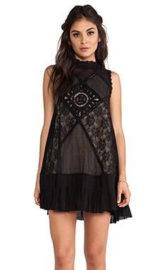 Free People Angel Lace Dress in Black | REVOLVE