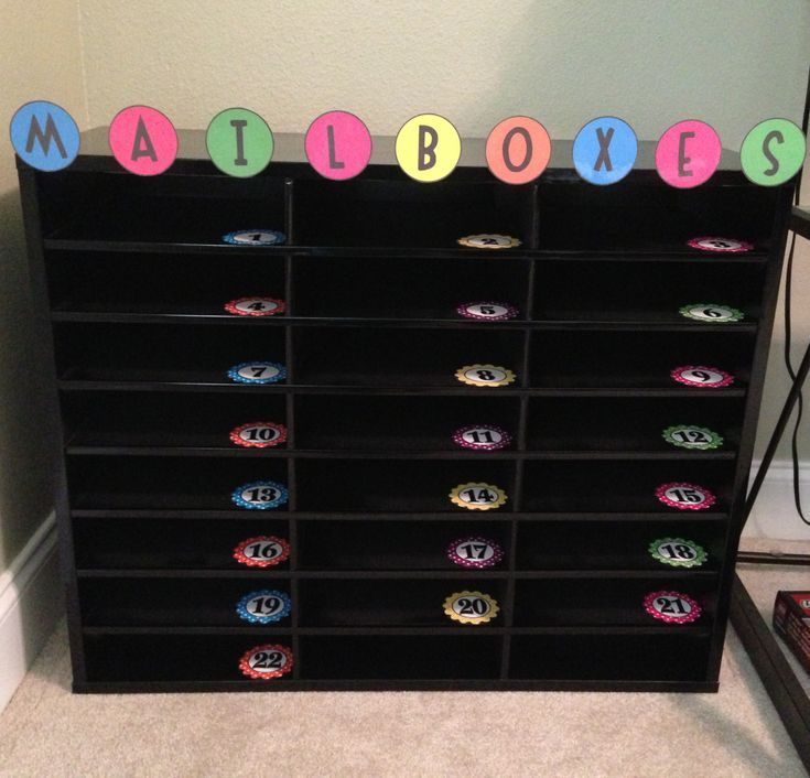 student mailboxes #organization #classroom