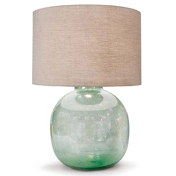 Regina Andrew Seeded Recycled Glass Vessel #Lamp. As seen in @In Style April 2012