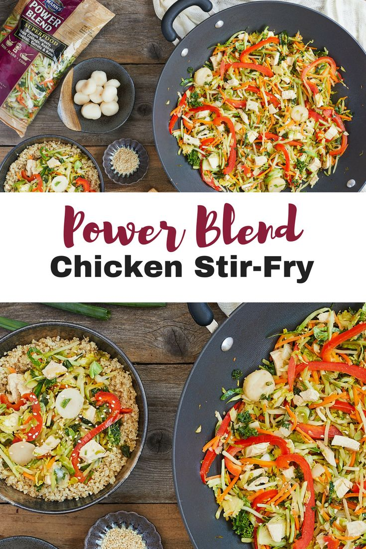 Power Blend Chicken Stir-Fry served with Quinoa | Mann's Fresh Vegetables