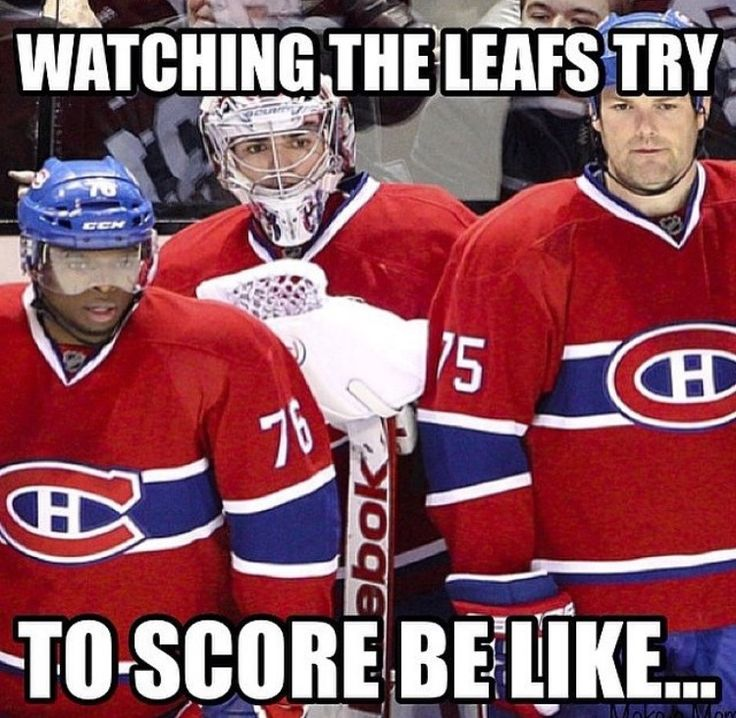Watching the leafs try to score.