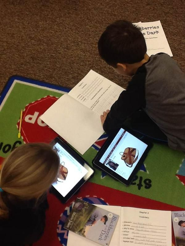 """""""First graders using @Schoology to build vocabulary and text comprehension. @RichardBHicks http://t.co/Lmyo4U09Ok"""" Image and text via @jaschwebach on Twitter."""