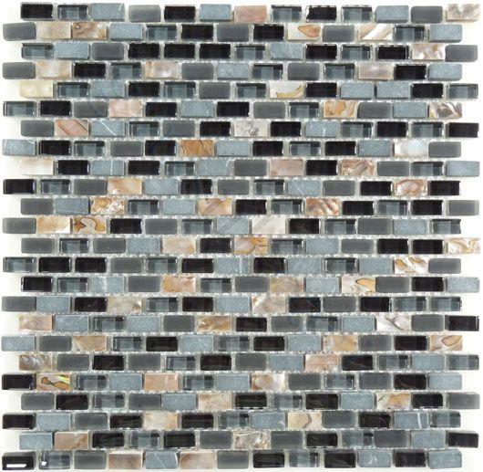 Black Unpolished Brick Kitchen Tiles