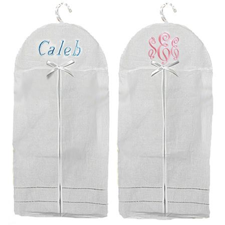 Linen diaper stacker custom embroidered with name or monogram
