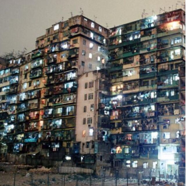 Kowloon walled city...