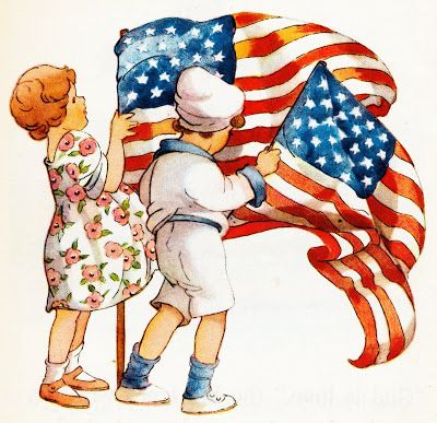 Collage Candy: Vintage patriotic image for July 4th