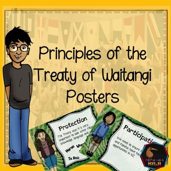 Treaty of Waitangi Principles presented on 3 pages, one principle per page. Waitangi Day