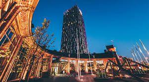 STREETLIFE R&R Tree Isles & Conical Tree Tubs @ Hotel Torni, Tampere (FI) #StreetFurniture #TreeProducts #TreeIsle #CorTen