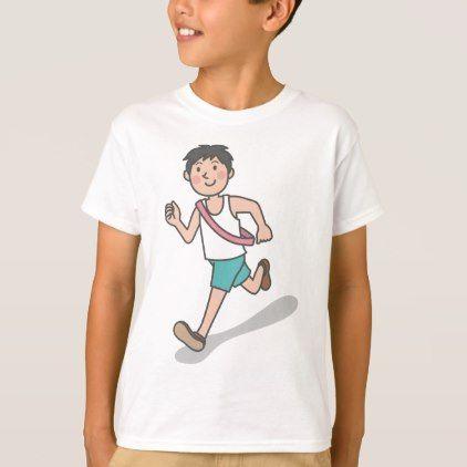 #Running Anime Boy T-Shirt - #travel #clothing