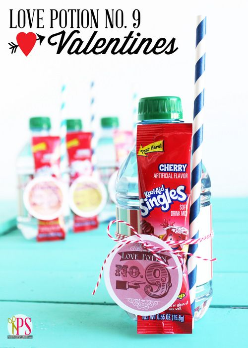 Love Potion Number 9 Valentines with Free Printables - An adorable package of everything recipients need to mix up a batch of their very own ruby-red love potion!No 9 Valentine, Valentine Treats, Potion No 9, Gift Ideas, Home Decor, Valentine Gift, Valentine Ideas, Potion Numbers, Free Printables