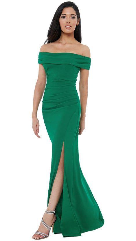 b52cfcab869016 Groene off-shoulder jurk 4334. Bezoeken. maart 2019