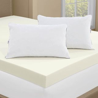Serta 4-inch Memory Foam Mattress Topper with 2 Memory Foam Pillows | Overstock.com Shopping – The Best Prices on Serta Memory Foam Mattress Toppers