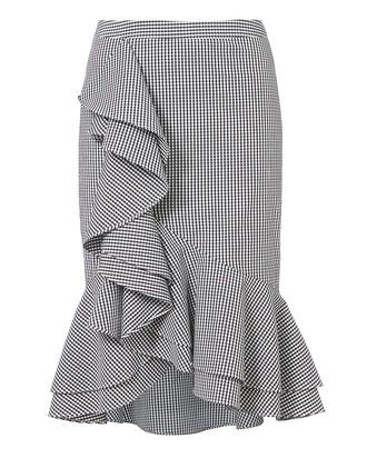 Sylvia Ruffle Front Gingham Skirt, PAT-CHECK, alta resolución