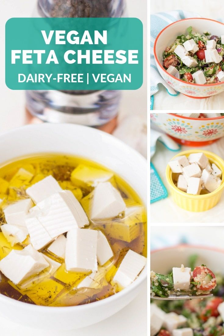 This Vegan Feta Cheese Is A Delicious Vegan Substitute For Traditional Feta It Has The Classic Briny Flavor Vegan Feta Cheese Vegan Cheese Recipes Dairy Free