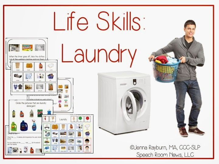 Speech Room News: Functional Life Skills-Laundry Lessons & Apps. Pinned by SOS Inc. Resources. Follow all our boards at pinterest.com/sostherapy/ for therapy resources.