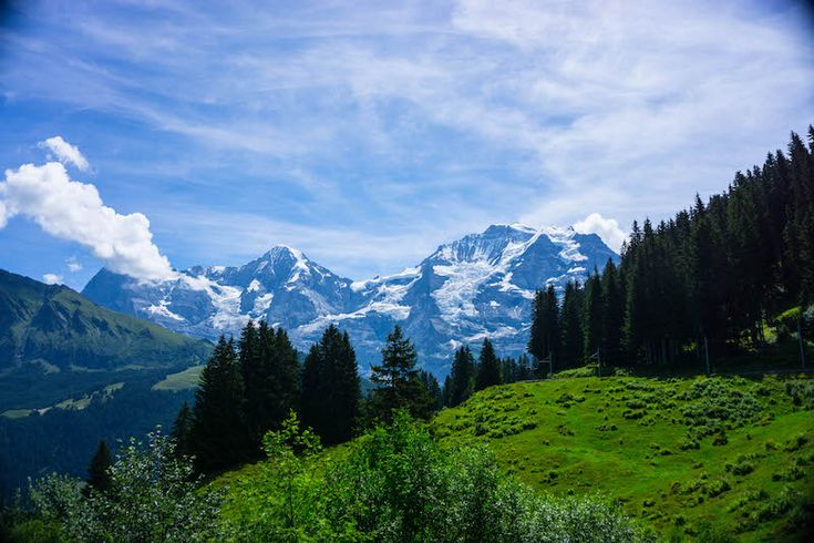 the mountains in one of the most scenic places in Switzerland