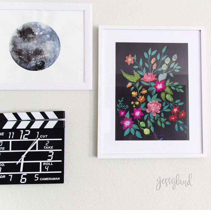 My new dark florals painting looks awesome in my living room! by jessyland