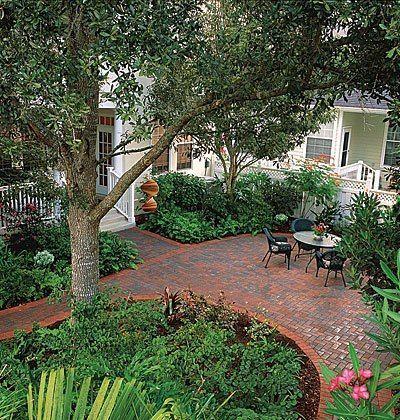 Brick patio #home #decor