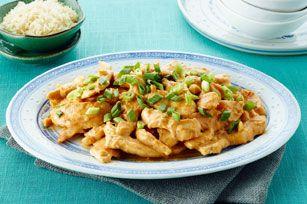 Sautéed chicken and spicy peanut