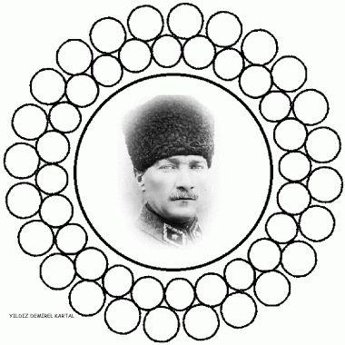 10 Kasım Haftası Atatürk mandala boyama sayfaları | OKUL ÖNCESİ FORUM