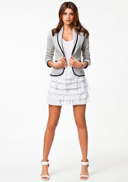 Women's Spring Slim Thin Short Paragraph Small Suit Lapel Long Sleeve Jacket
