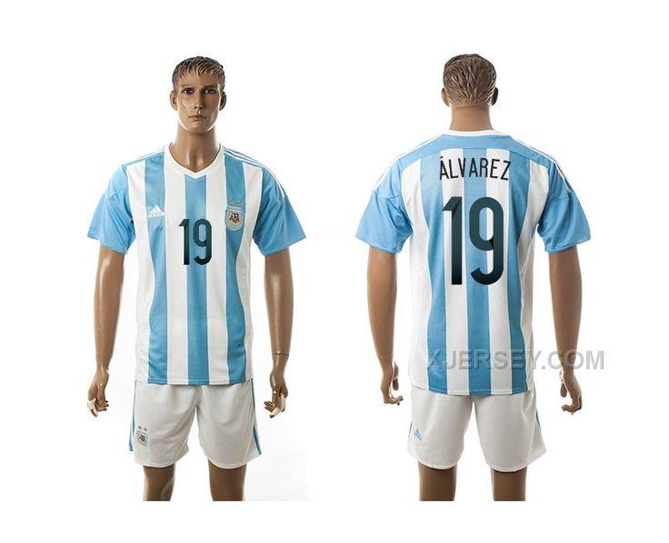 http://www.xjersey.com/argentina-19-alvarez-home-2016-copa-america-centenario-soccer-jersey.html ARGENTINA 19 ALVAREZ HOME 2016 COPA AMERICA CENTENARIO SOCCER JERSEY Only $35.00 , Free Shipping!