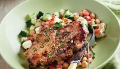 Pork neck steaks are lean and cheaper than red meat.